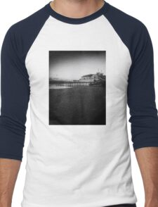 Sunset.Black and white Men's Baseball ¾ T-Shirt