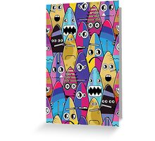 Monsters with emotions Greeting Card