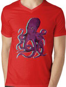 3D Octopus Mens V-Neck T-Shirt
