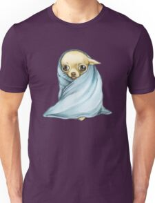 Chihuahua Wrapped in a Blanket Unisex T-Shirt