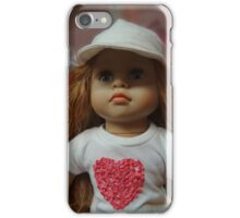 Little girl doll with hat iPhone Case/Skin