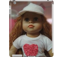 Little girl doll with hat iPad Case/Skin