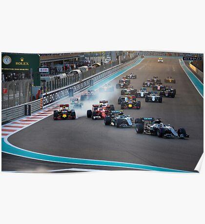 Formula 1 Abu Dhabi 2016 final race  Poster