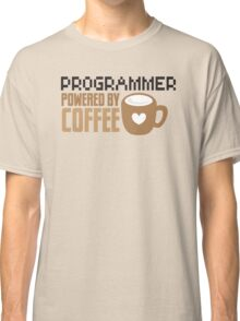 Programmer powered by coffee Classic T-Shirt