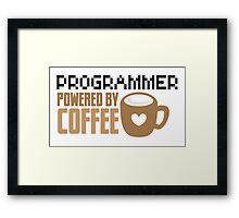 Programmer powered by coffee Framed Print