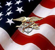 U.S. Navy SEALs Trident Emblem  by Captain7