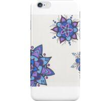 Blue Flower Mandalas iPhone Case/Skin