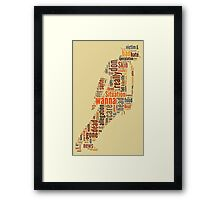 Michael Jackson They Don't Care About Us Typography Framed Print