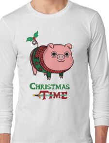 Mr. Pig With Christmas Jumper Long Sleeve T-Shirt