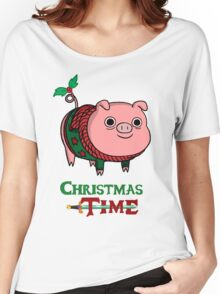 Mr. Pig With Christmas Jumper Women's Relaxed Fit T-Shirt
