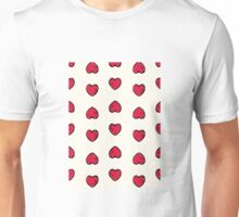 Abstract seamless heart pattern.Gift wrap, print, cloth, cute background for a card. Unisex T-Shirt