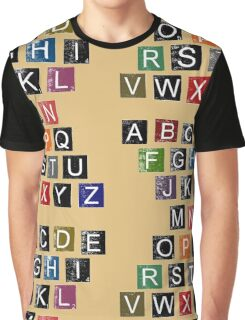 Easy AlphaBet Graphic T-Shirt