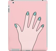 Simple Pink Pastel Manicured Hands iPad Case/Skin