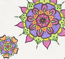 Citrus Flower mandalas by zehava