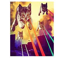 Cats With Laser Eyes Photographic Print
