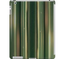 retro green geometric stripy pattern iPad Case/Skin