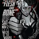 Poster for Roadside Memorial Flesh & Bone Video Premiere | Meeks Baker by caseycastille