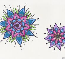 Starburst Mandalas by zehava