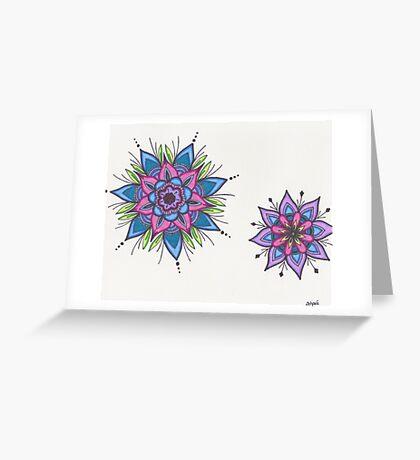Starburst Mandalas Greeting Card