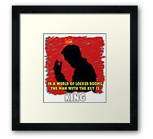 The Key King BBC Sherlock Moriaty Framed Print
