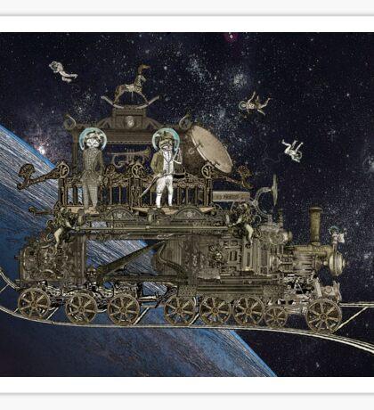 Space Cat Train Sticker