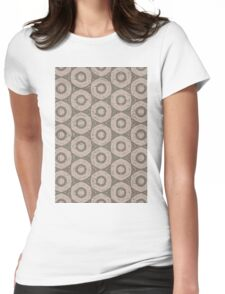 Circle pattern Womens Fitted T-Shirt
