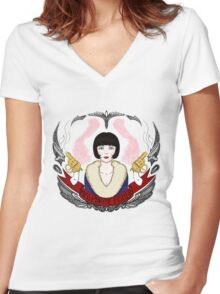 The Honorable Miss Phryne Fisher Women's Fitted V-Neck T-Shirt