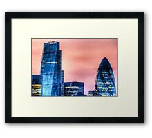 The Gherkin and the Cheese Grater Framed Print