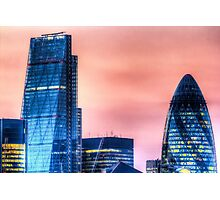 The Gherkin and the Cheese Grater Photographic Print