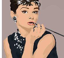 Audrey Hepburn by aelita15