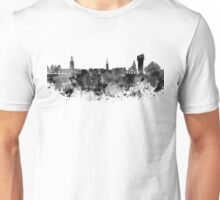 Stockholm skyline in black watercolor Unisex T-Shirt