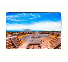 Avenue Of The Dead at Teotihuacan - Mexico Art Print