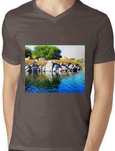 Beautiful Blue Nile River Mens V-Neck T-Shirt