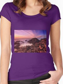Giant's Causeway , Co Antrim , Northern Ireland Women's Fitted Scoop T-Shirt