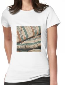 Lines pattern,abstract background Womens Fitted T-Shirt