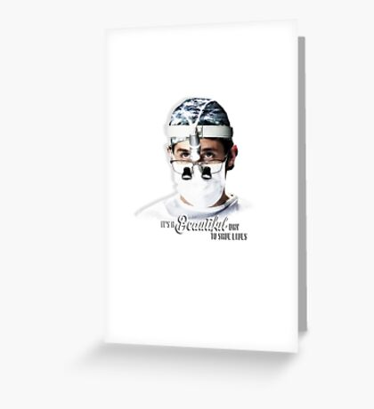 Grey's Anatomy - Dr Shepherd Greeting Card