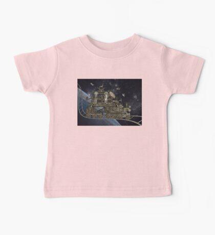Space Cat Train Baby Tee