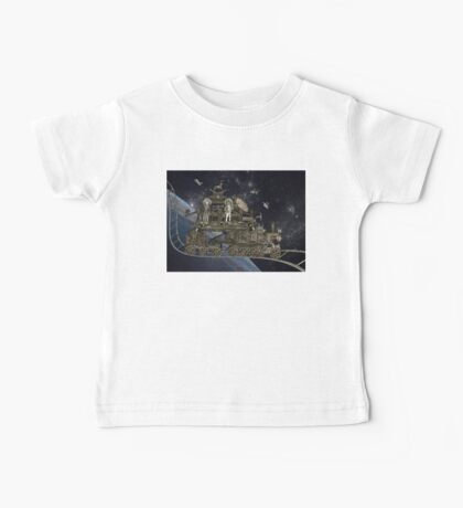 Space Cat Train Baby Tee