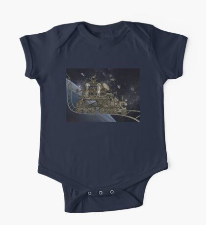 Space Cat Train One Piece - Short Sleeve