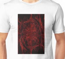 Abstract red lines Unisex T-Shirt