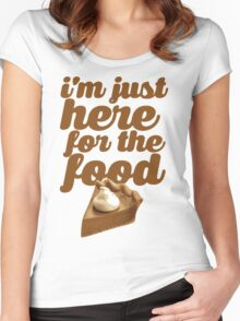 HERE FOR THE FOOD Women's Fitted Scoop T-Shirt
