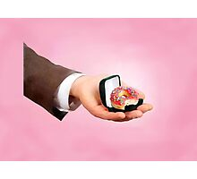 Sweet Love - Donut Ring Photographic Print
