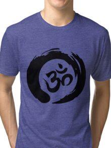 OM sign and symbol.Black and white symbol Tri-blend T-Shirt