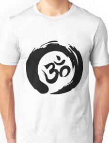 OM sign and symbol.Black and white symbol Unisex T-Shirt