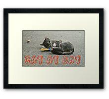 CAT AT BAT  Framed Print