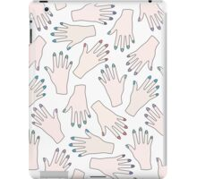 Simple Pastel Pattern - Nail Studio - Manicured Hands iPad Case/Skin