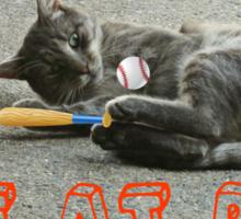 CAT AT BAT  Sticker