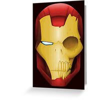 Iron Man Skull Greeting Card