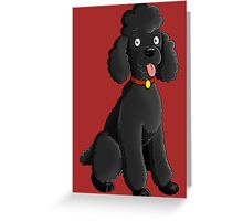 Cartoon Poodle Greeting Card