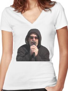 Fuck Her Right In The Pussy Women's Fitted V-Neck T-Shirt